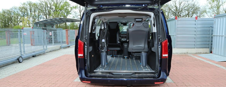 Podlahový systém + sedadla – DEMO V-Klasse